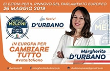 MARGHERITA D'URBANO - Elezioni Europee 2019